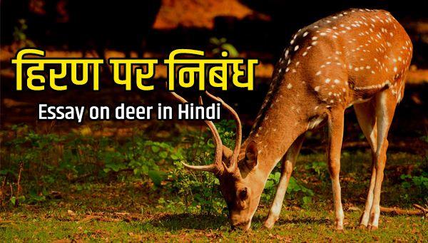 Essay on deer in Hindi